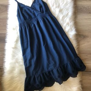 Converse One Star Navy Dress with Eyelet Details